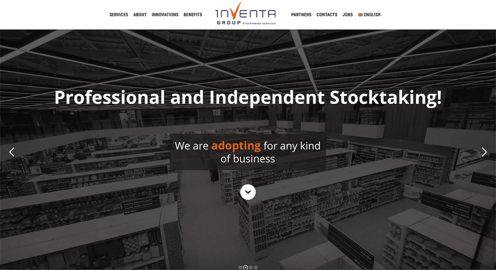 Stocktaking Company Website